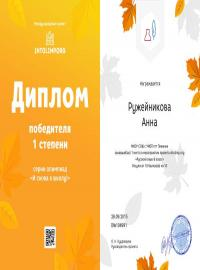 """Ружейникова Анна, intolimp.org """"Русский язык 8 класс"""""""