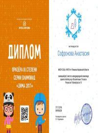 """Софронова Анастасия, проект intolimp.org """"Русский язык 10 класс"""""""
