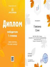 """Говязина Соня, intolimp.org """"Русский язык 8 класс"""""""