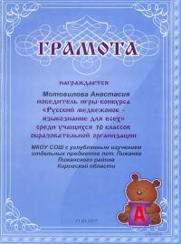 """""""Русский медвежонок - языкознание для всех"""" (2016)"""